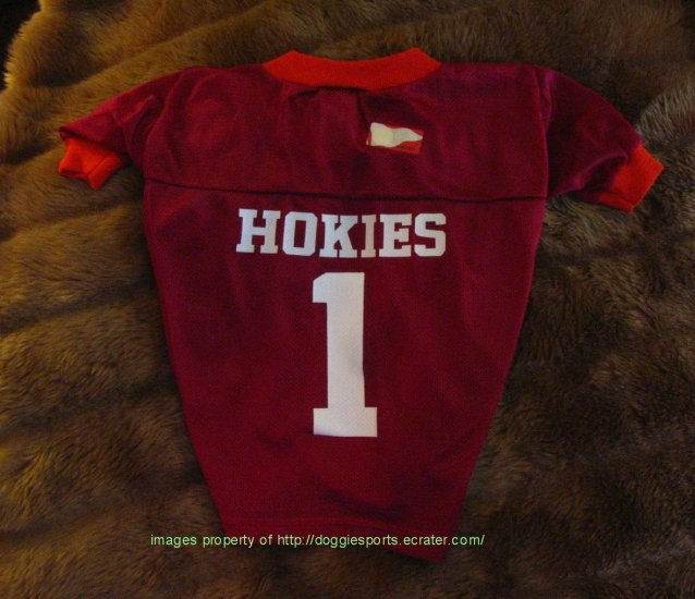 Virginia Tech Hokies Deluxe NCAA Sports Logo Dog Football Jersey Large Size