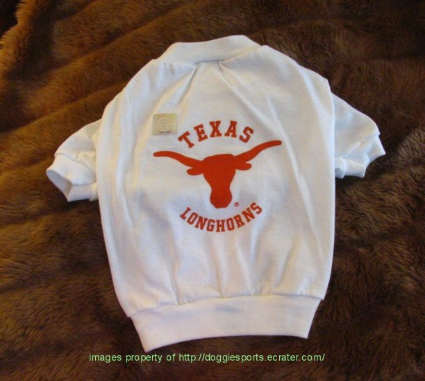 Texas Longhorns NCAA Sports Dog Football Tee Shirt Large Size