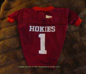 Virginia Tech Hokies Deluxe NCAA Sports Logo Dog Football Jersey Medium Size