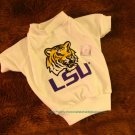 Louisiana State LSU Tigers NCAA College Sports Dog Tee Shirt  Medium Size