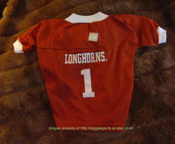 Texas Longhorns Deluxe NCAA Football Dog Jersey Petite Size