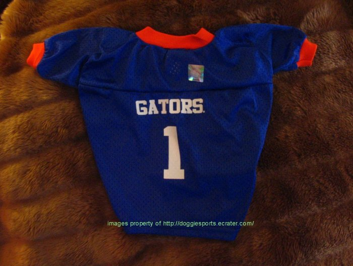Florida Gators Deluxe NCAA Sports Logo Dog Football Jersey Petite Size