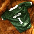 Michigan State Spartans Deluxe NCAA Sports Logo Dog Football Jersey Petite Size