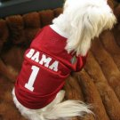 Alabama Crimson Tide Deluxe NCAA Sports Logo Dog Football Jersey Large Size