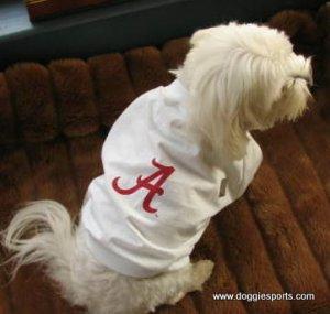 Alabama Crimson Tide NCAA Sports Dog Football Tee Shirt Large Size