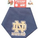 Blue Notre Dame Fighting Irish Dog Bandana Official NCAA Football Sports Pet Apparel