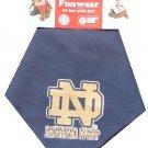 Blue Notre Dame Fighting Irish Dog Bandana Official NCAA Football Sports Pet Apparel