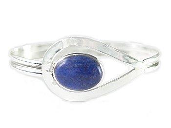 .925 SS Lapis Lazuli Bangle Bracelet