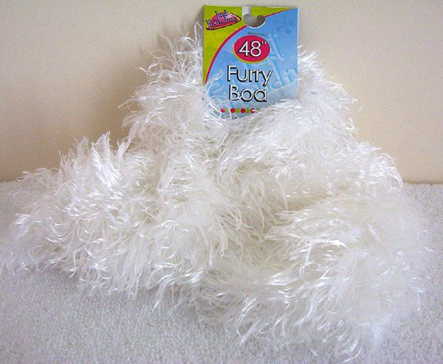 Girls White Furry Boa 48 Inches Long Dress Up Must NWT