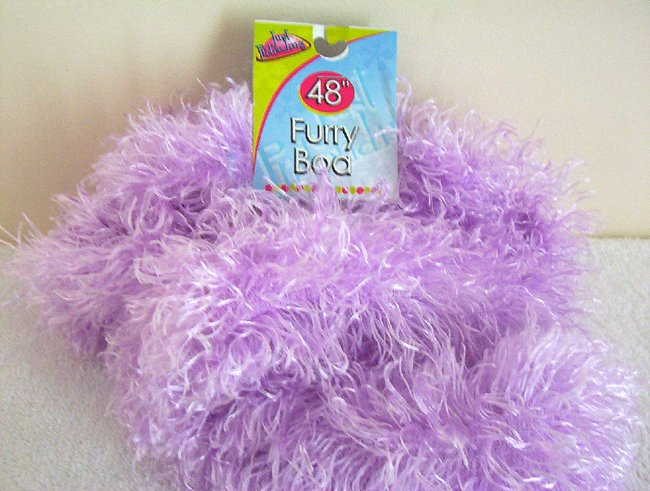 Girls Purple Furry Boa 48 Inches Long Dress Up Must NWT