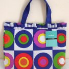 Girls Teen Ladies Blue Retro Art Canvas Handbag NWT