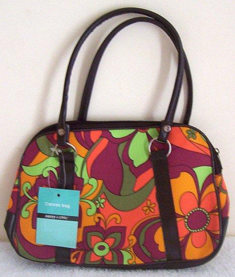 Girls Teen Ladies Orange Green 70s Retro Handbag NWT