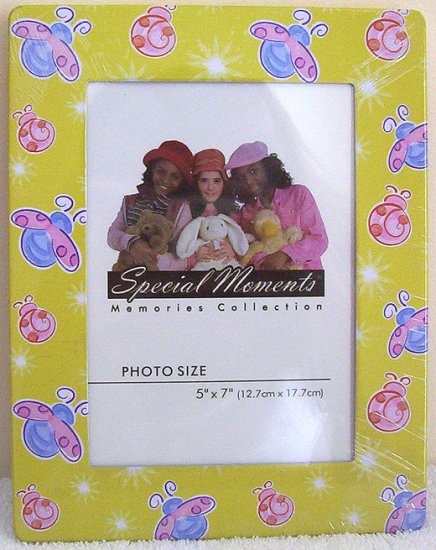 Girls Yellow Pink Blue Lovebug 5 x 7 Picture Frame NIP!