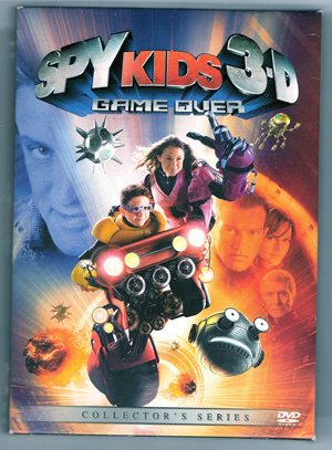 Spy Kids 3D Game Over Collectors Ed DVD 3D Glasses EUC