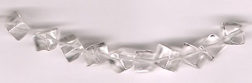 Genuine Crystal Quartz 5 mm Cube Beads Lot of 10