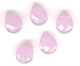 Rose Quartz 12 mm Faceted Teardrop Beads - Lot of 5
