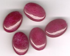 Australian Berry Jade 12 x 18 mm Oval Beads - Lot of 5