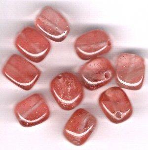 Cherry Quartz 8 x 10 mm Bean Beads - Lot of 10 Beads