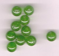 Bright Green Apple Quartz 8mm Round Beads- Lot of 10 beads