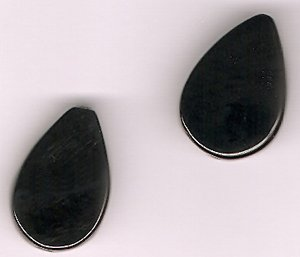 Genuine Black Onyx 14 x 23 mm Teardrop Beads - Lot of 2 - Perfect For Earrings
