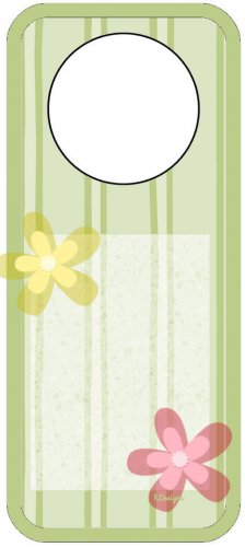 Green Flower Spring Door Hanger