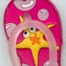 Flip Flops Beach Sandals Keychain Freaky Friends Starfish Pink #0143