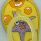 Flip Flops Beach Sandals Keychain Freaky Friends Starfish Yellow #0106