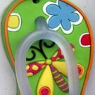 Flip Flops Beach Sandals Keychain Freaky Friends Dragonfly Green #0126