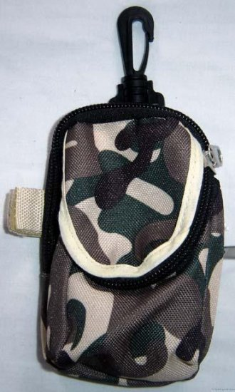 Backpack Style Cell Phone Bag Holder Coin Purse Olive Khaki & Green Camoflauge #0217