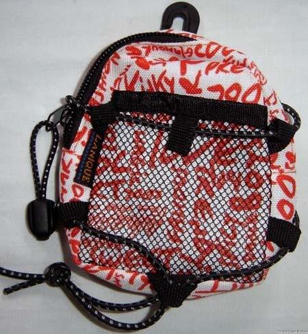 Backpack Style Cell Phone Bag Holder Coin Purse Orange Grafitti Sweet Glamour Trendy Love #0216
