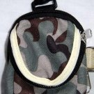 Backpack Style Cell Phone Bag Holder Coin Purse Green Brown & Gray Camoflauge #0218