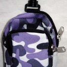 Backpack Style Cell Phone Bag Holder Coin Purse Purple Gray & Blue Camoflauge #0206