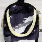 Backpack Style Cell Phone Bag Holder Coin Purse Gray Purple & Blue Camoflauge #0220