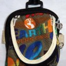 Backpack Style Cell Phone Bag Holder Coin Purse Groovy Tie Dye Chinglish Slogans #0200
