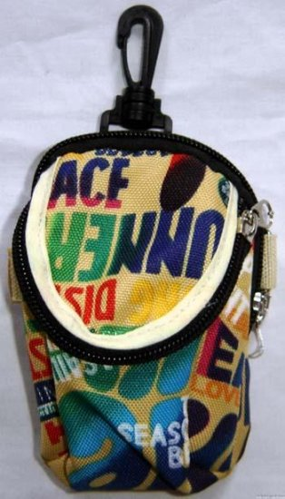 Backpack Style Cell Phone Bag Holder Coin Purse Groovy Tie Dye Chinglish Slogans #0223
