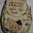 Backpack Style Cell Phone Bag Holder Coin Purse Good Luck Kitty Cat #0177