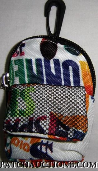 Backpack Style Cell Phone Bag Holder Coin Purse Groovy Grafitti #0149