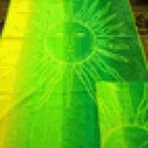 Green Sun Egyptian Cotton Beach Towel,