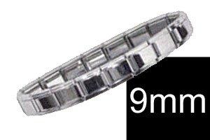 9mm Silver Italian Charm Starter Bracelet