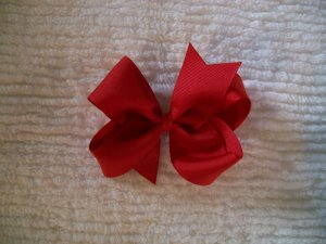 Red Grosgrain Hair Bow