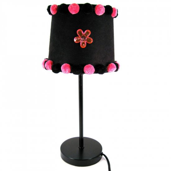 Pink and black lamp