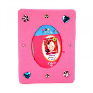 Hot pink and turquoise picture frame