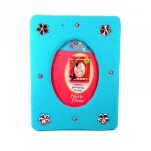 Turquoise and pink picture frame