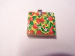 Recycled scrabble Pendant Grand opening sale - Strawberry Fields Forever