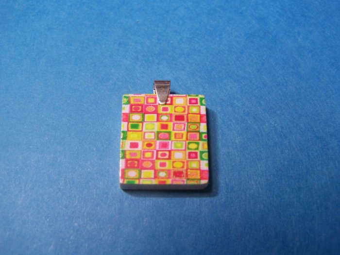 Recycled scrabble Pendant  70's