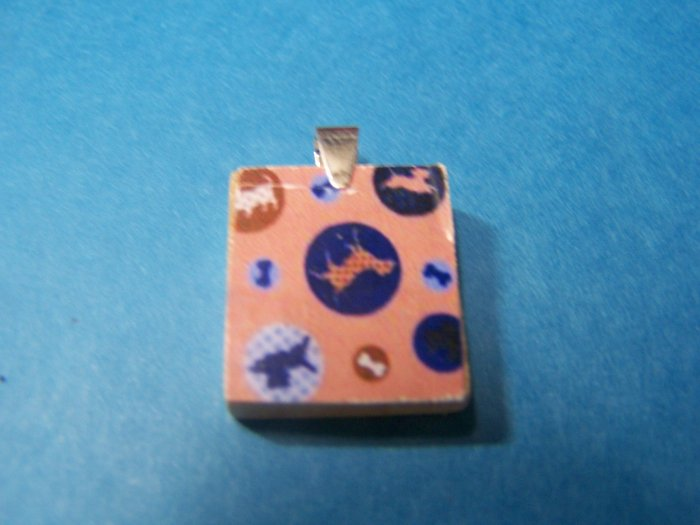 Recycled scrabble Pendant Grand opening sale - Dog and Bone