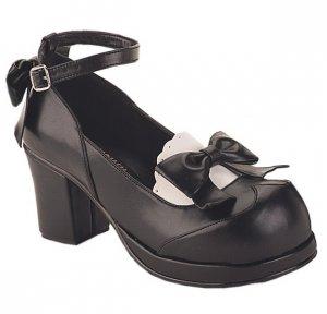 """""""Goblin"""" - Women's Scalloped Trim Block Heel Shoes"""