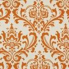 Sweet Potato Orange Cream Damask Home Decorating Fabric