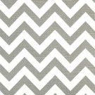 Zig Zag Ash Gray White Slub Stripe Home Decorating Fabric