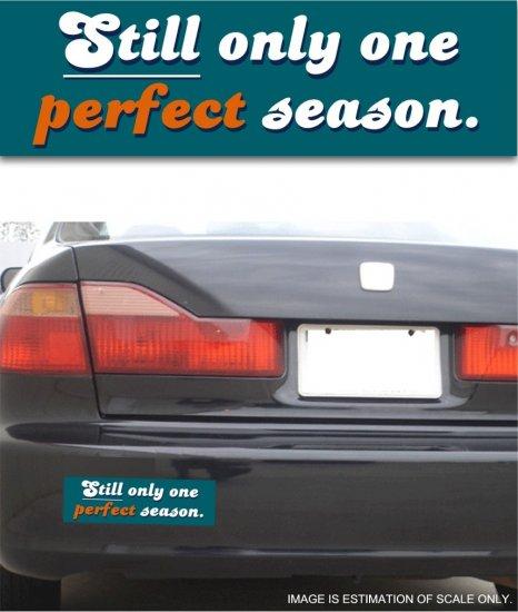 Dolphins Perfect Season - Bumper Sticker